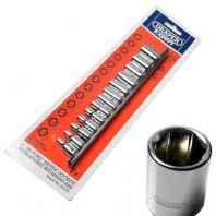 "Draper Expert 13 Piece Metric Socket Set 1/4"" Drive Face Grip Hi-Torq 4-14mm"